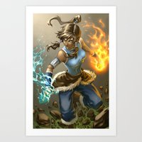 korra Art Prints featuring Korra by Quirkilicious