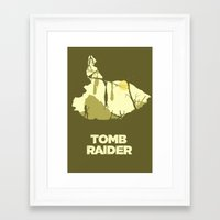 tomb raider Framed Art Prints featuring Tomb Raider by FelixT