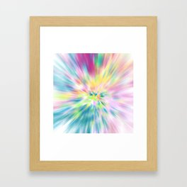 Pastel Explosion Tie Dye Abstract Framed Art Print