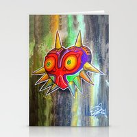 majora Stationery Cards featuring Majora mask by Lyxy