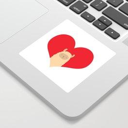 Love Alpaca Sticker