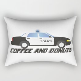 Police Car Patrol Officers Like Coffee and Donuts Rectangular Pillow