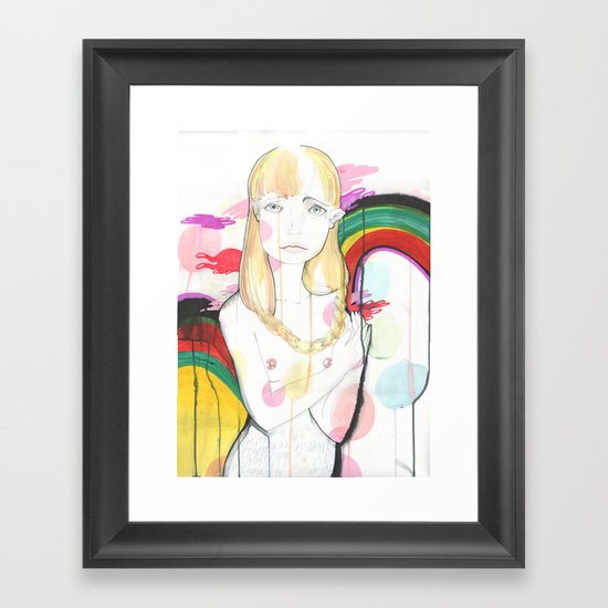 La fille de Siren Framed Art Print