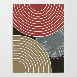 Red Brown Minimalist Poster