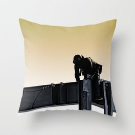 Steel worker Throw Pillow