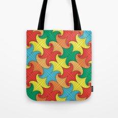 Dancing squares Tote Bag