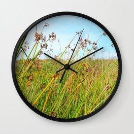 flowers in daylight Wall Clock