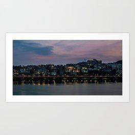 Purple Skies Over Seoul Art Print