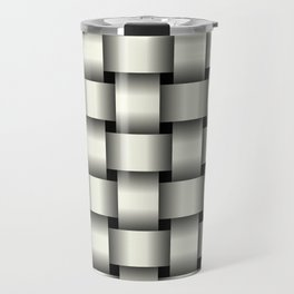 Large Ivory Weave Travel Mug