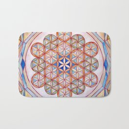 Flower of Life Mandala Bath Mat