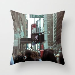 New York Street Throw Pillow