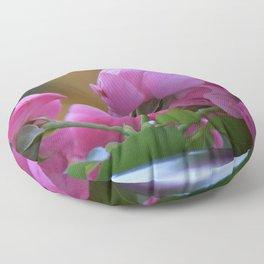 Gorgeous Phenomenal Pink Rose Bouquet Close Up Ultra HD Floor Pillow
