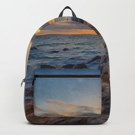 Rocky Shores | Oil Painting  Backpack