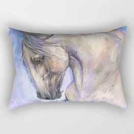 Horse on purple background Rectangular Pillow