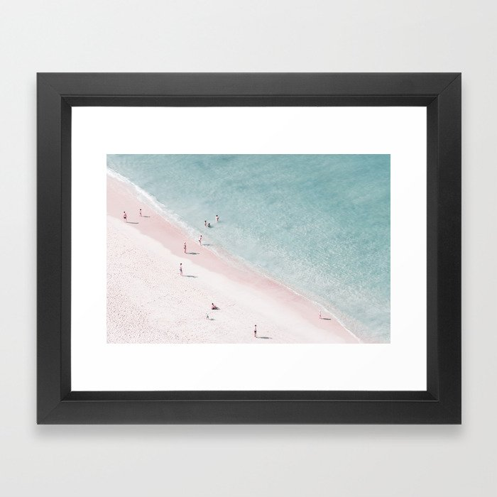 beach family love Framed Art Print by ingz | Society6