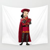 bastille Wall Tapestries featuring Lord Farquarson (colour) by Other People's Characters