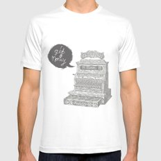 cash register White Mens Fitted Tee MEDIUM