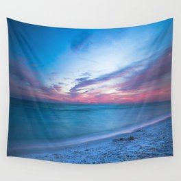 If By Sea - Sunset and Emerald Waters Near Destin Florida Wall Tapestry