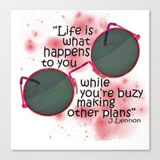 Life By Lennon Canvas Print