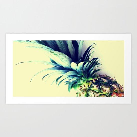 Tall pineapple Art Print