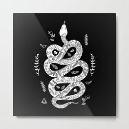 Snake in camouflage 2 Metal Print