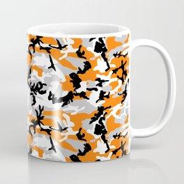 Orange Camouflage Pattern Coffee Mug