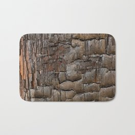 Charred Wood Texture Bath Mat