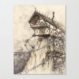 Steampunk House Canvas Print