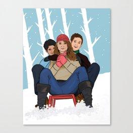sledding  Canvas Print