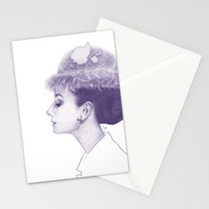 Audrey Hepburn in Purple  Stationery Cards