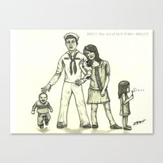 Military Family Canvas Print