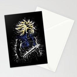 Splatter future sword Stationery Cards