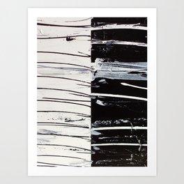 Black & White Close Up Art Print