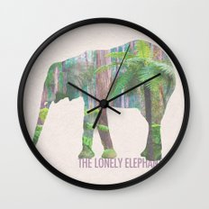 The Lonely Elephant Wall Clock