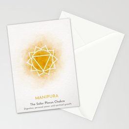 Yellow Manipura Chakra Stationery Cards
