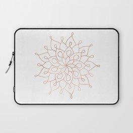 Mandala Rose Gold Pink Star Laptop Sleeve