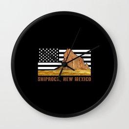 Shiprock, New Mexico Wall Clock