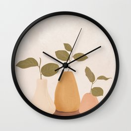 Three Little Branches Wall Clock