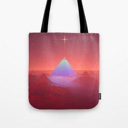 Blue Pyramid Tote Bag