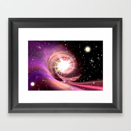QUASAR. Framed Art Print