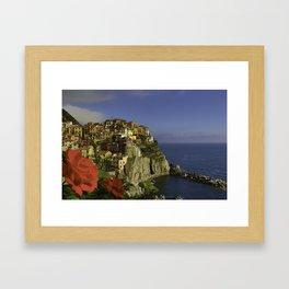 Postcard Perfect Manarola Italy Framed Art Print