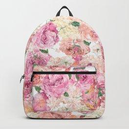 Flowers, Floral Explosion, Floral Pattern, Pink Flowers Backpack