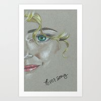 river song Art Prints featuring River Song by Alysia Grudier