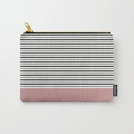 SAILOR STRIPES WITH PINK Carry-All Pouch