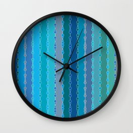 Multi-faceted decorative lines 7 Wall Clock
