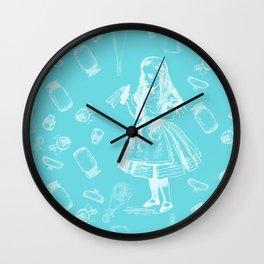 Alice in Wonderland and Jars Wall Clock