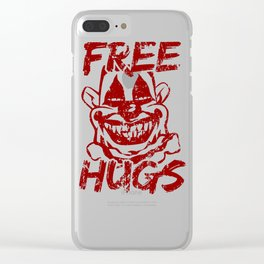 Creepy Mask Free Hugs Scary Clown  Clear iPhone Case