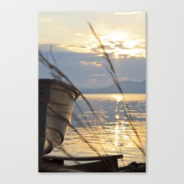 Sunset At Lakeside Canvas Print