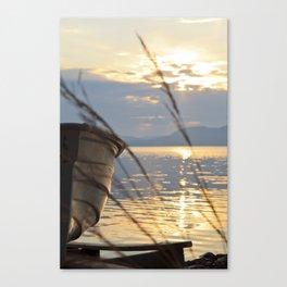 Sunset At Lakeside Canvas Print