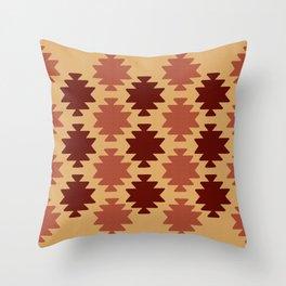 Southwestern Pattern Burgundy Throw Pillow